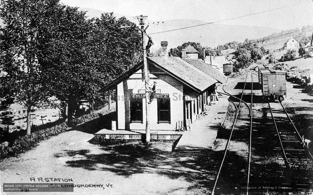Postcard: Railroad Station, South Londonderry, Vermont