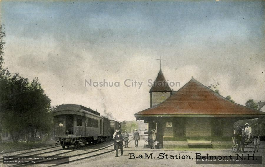 Postcard: Boston & Maine Station, Belmont, N.H.