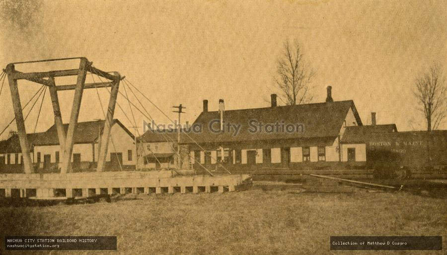 Postcard: Boston & Maine Station, Canaan, New Hampshire