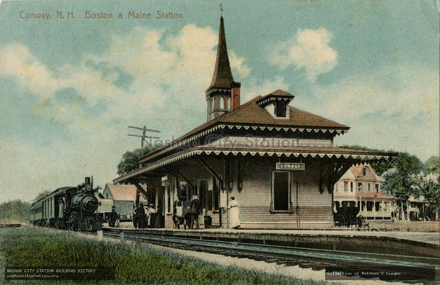 Postcard: Conway, New Hampshire Boston & Maine Station