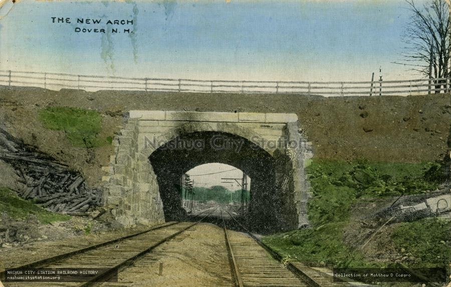 Postcard: The New Arch, Dover, N.H.
