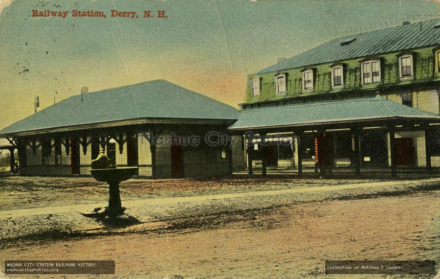 Postcard: Railway Station, Derry, N.H.