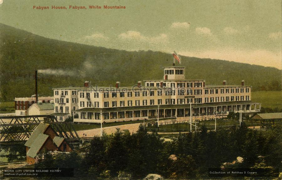 Postcard: Fabyan House, Fabyan, White Mountains