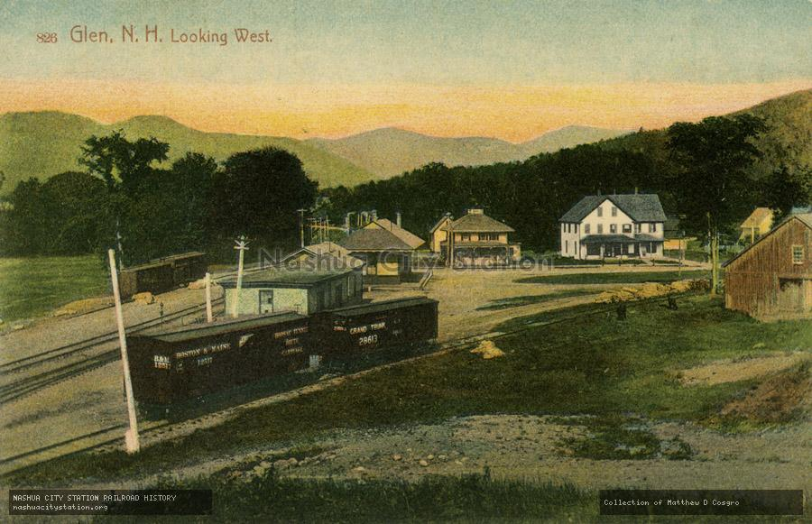 Postcard: Glen, N.H. Looking West