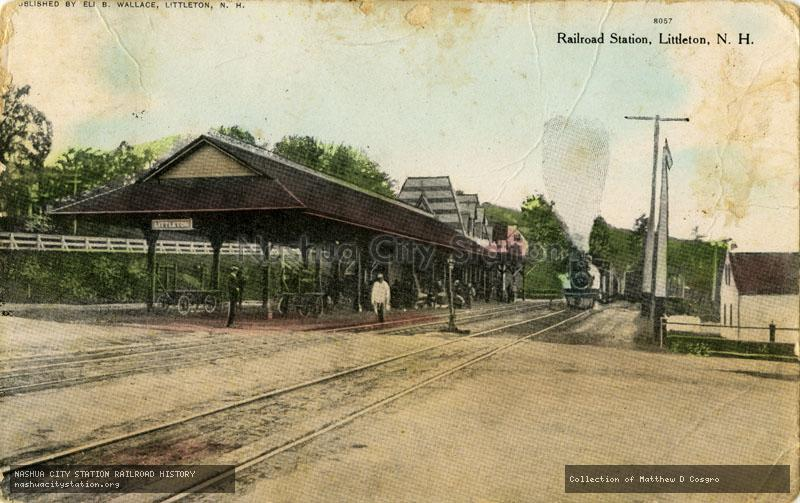 Postcard: Railroad Station, Littleton, N.H.