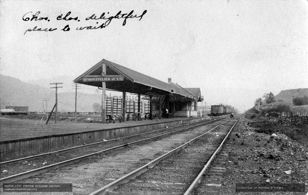 Postcard: Montpelier Junction railroad station