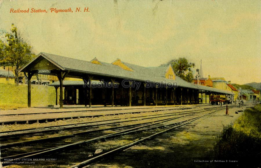 Postcard: Railroad Station, Plymouth, N.H.