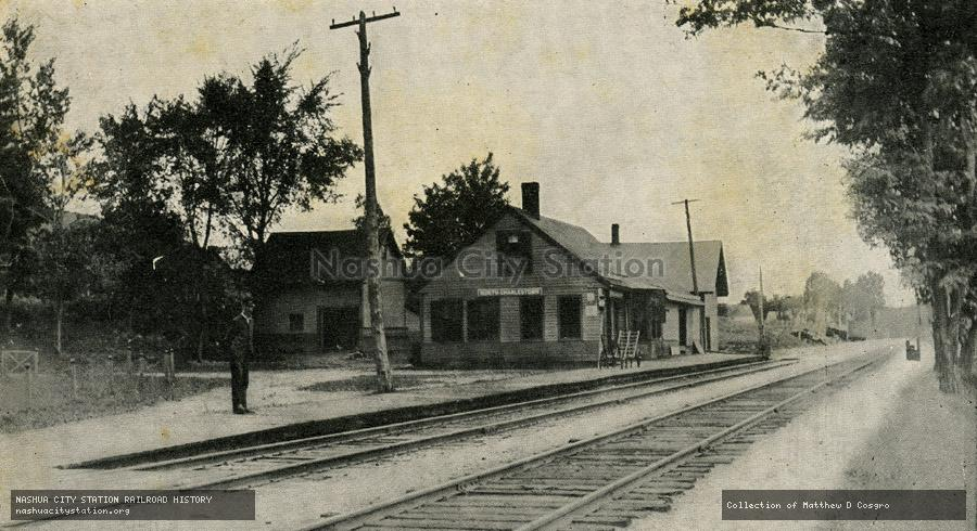 Postcard: Railroad Station, North Charlestown, New Hampshire