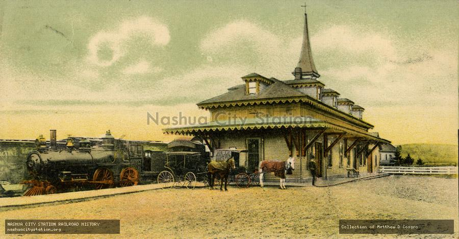Postcard: Boston & Maine Railroad Station, Wolfeboro, N.H.