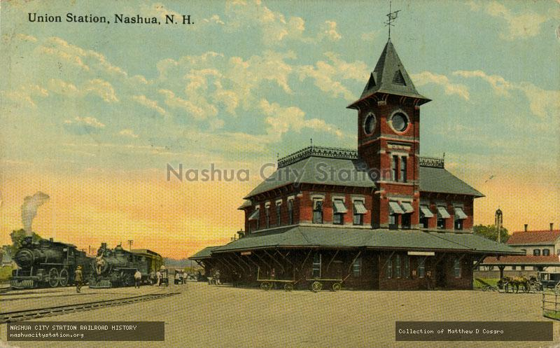 Postcard: Union Station, Nashua, N.H.
