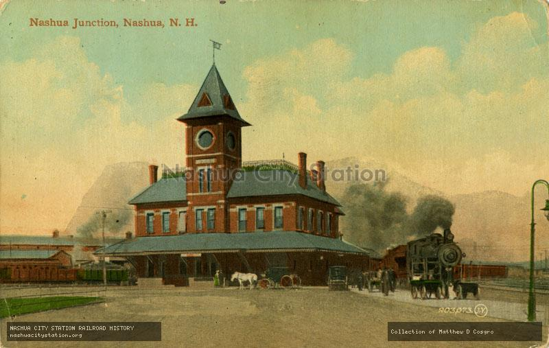 Postcard: Nashua Junction, Nashua, N.H.