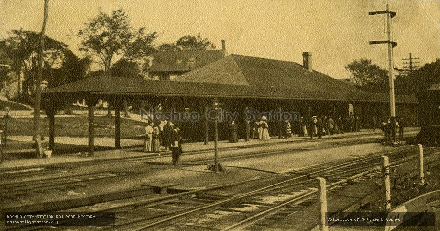 Postcard: Railroad Station, South Acton, Massachusetts