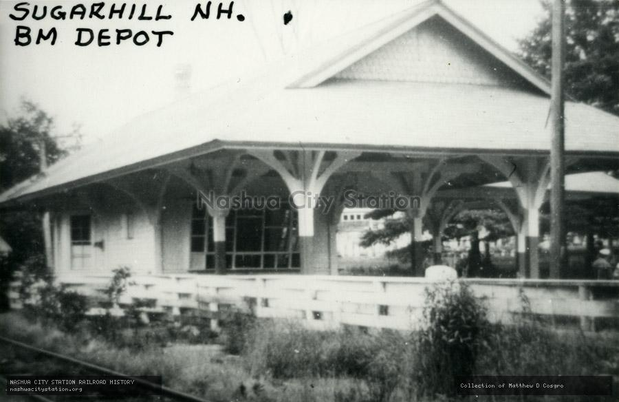 Postcard: Sugar Hill, New Hampshire. Boston & Maine Depot