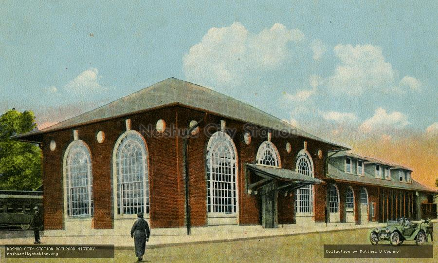 Postcard: Maine Central Railroad Station, Lewiston, Maine