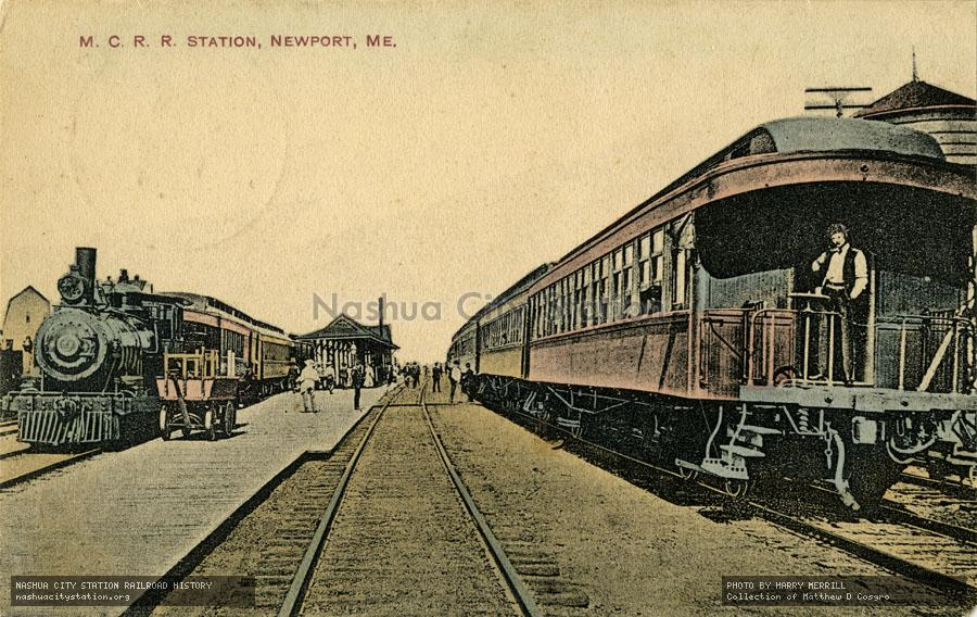 Postcard: Maine Central Railroad Station, Newport, Maine