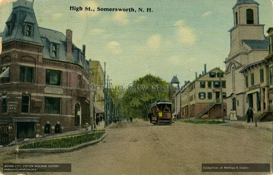 Postcard: High Street, Somersworth, N.H.