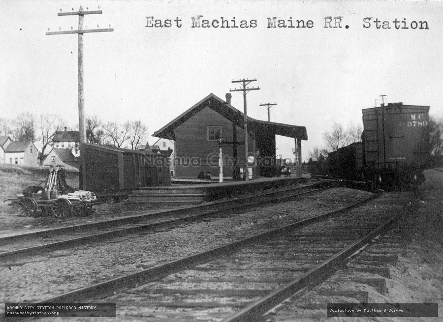 Postcard: East Machias , Maine Railroad Station