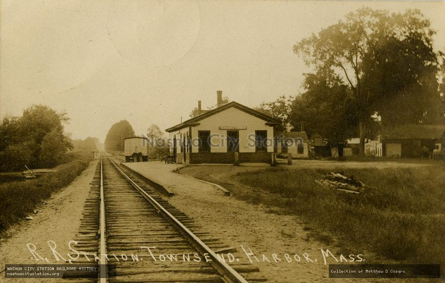 Postcard: Railroad Station, Townsend Harbor, Massachusetts