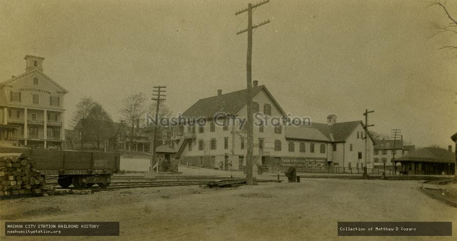Postcard: South Acton, Massachusetts. From Railroad Yard
