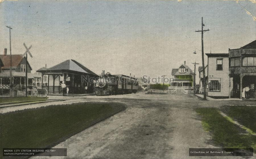 Postcard: Boston & Maine Station, Ocean Park, Maine