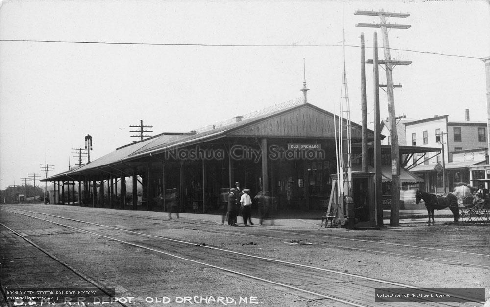 Postcard: Boston & Maine Railroad Depot, Old Orchard, Maine