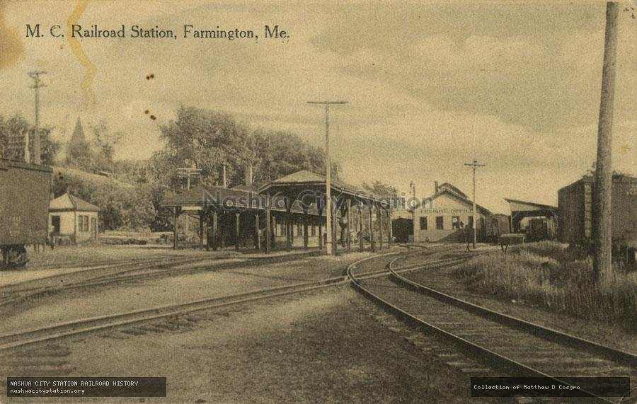 Postcard: Maine Central Railroad Station, Farmington, Maine