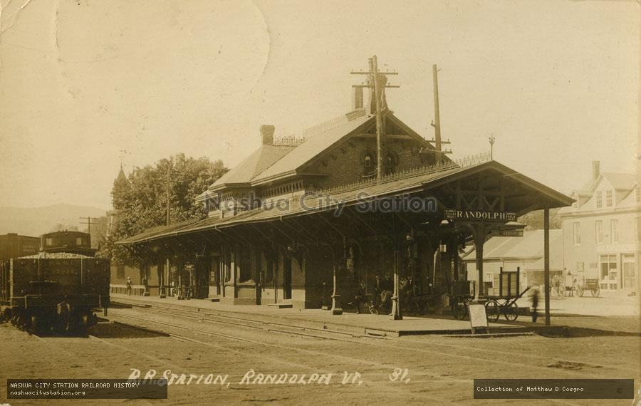 Postcard: Railroad Station, Randolph, Vermont