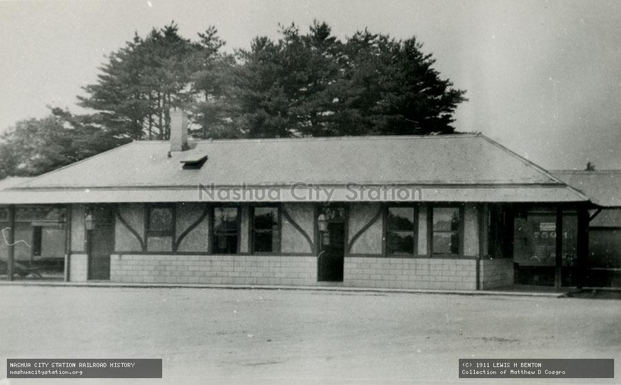 Postcard: Railroad Station, Marion, Massachusetts