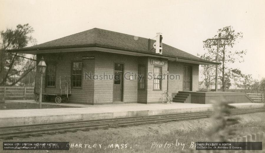 Postcard: Railroad Station, Chartley, Massachusetts