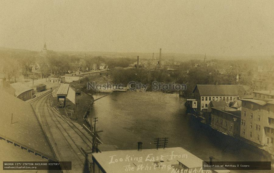 Postcard: Looking East from the Whiting, Nashua, New Hampshire
