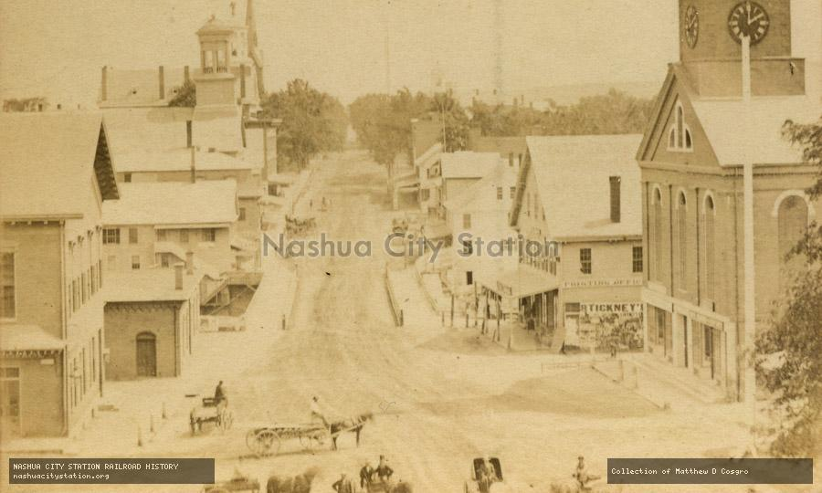 Stereoview: Main Street, Nashua, New Hampshire